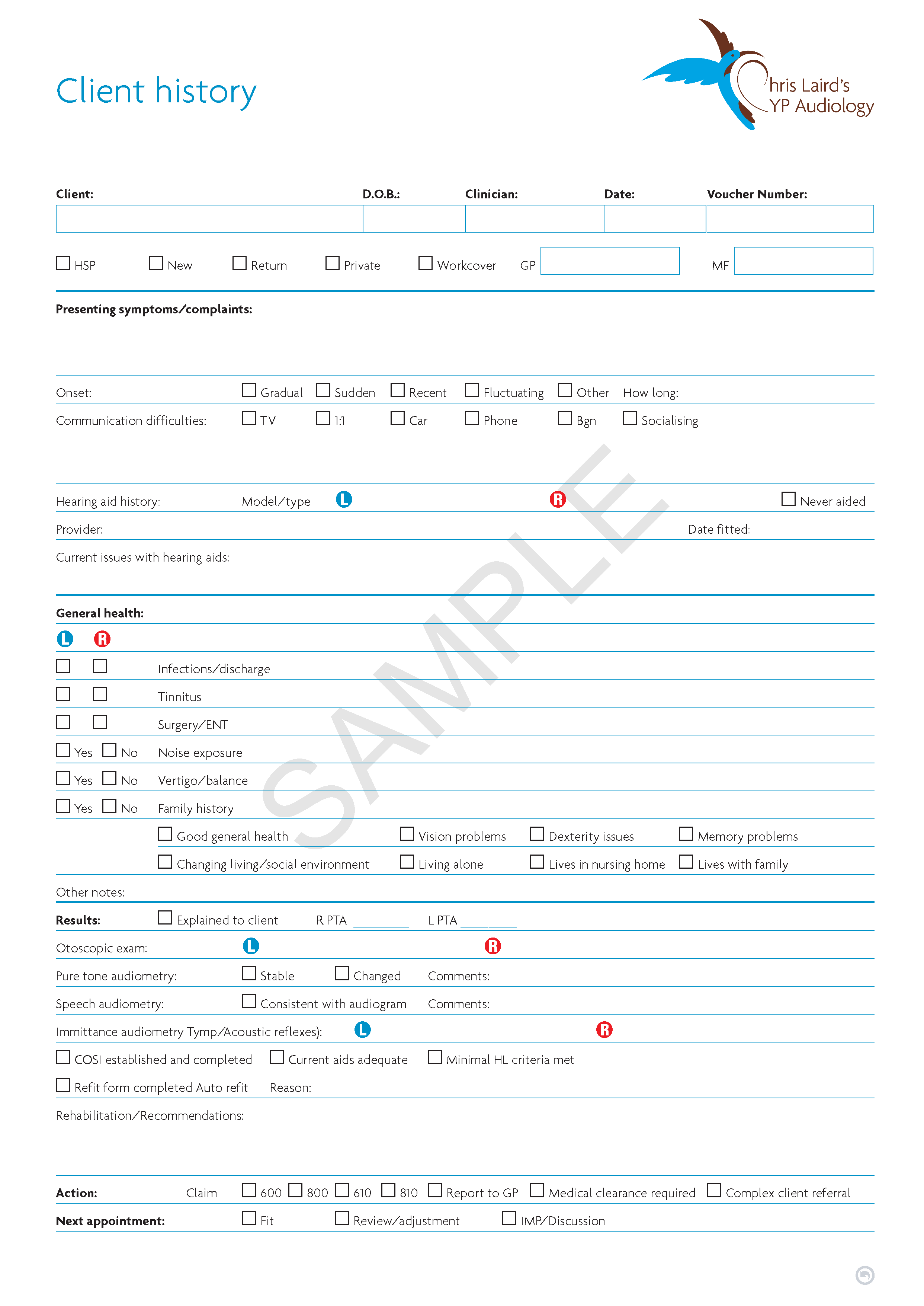 Link to example of medical form design
