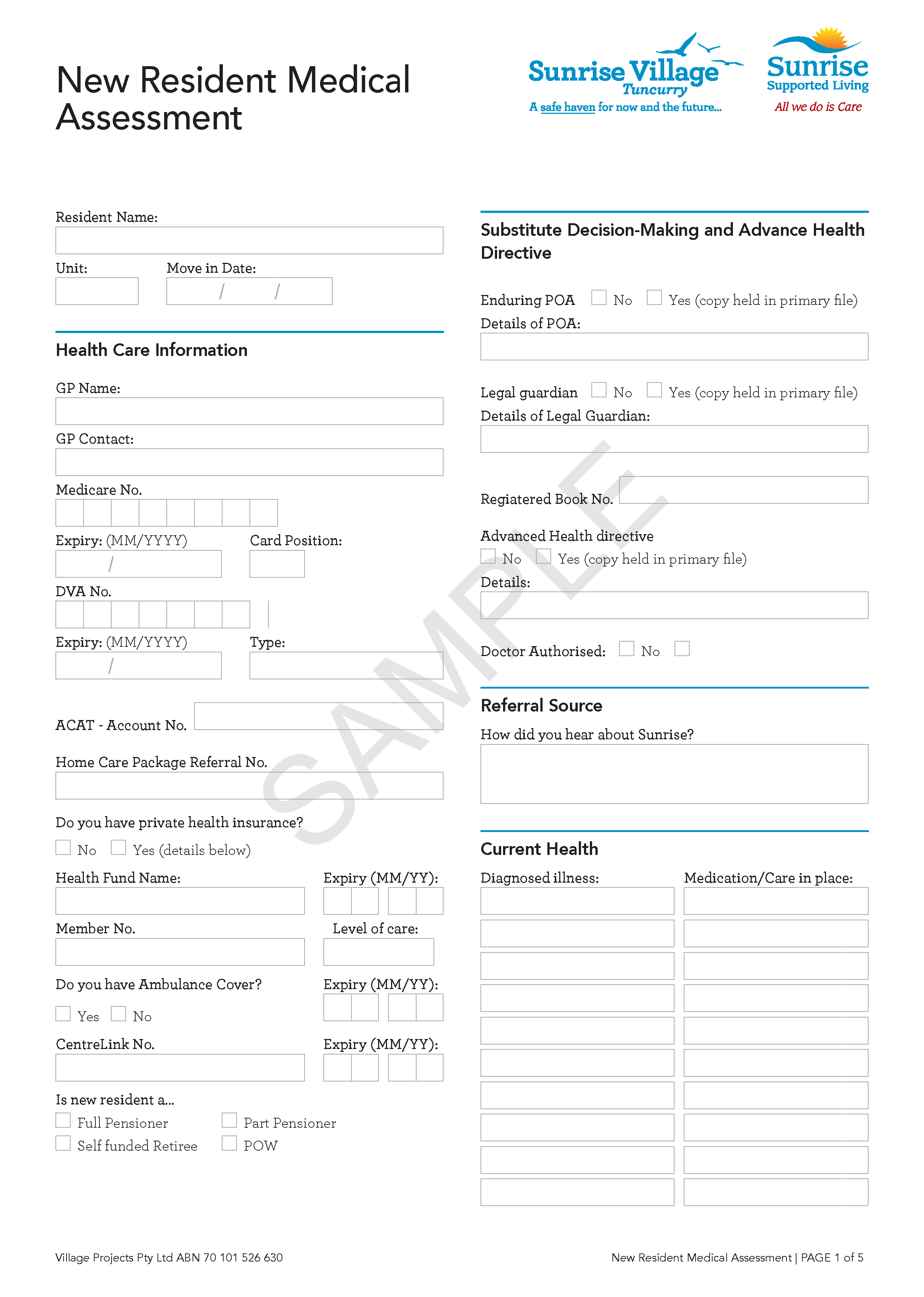 Link to example PDF form