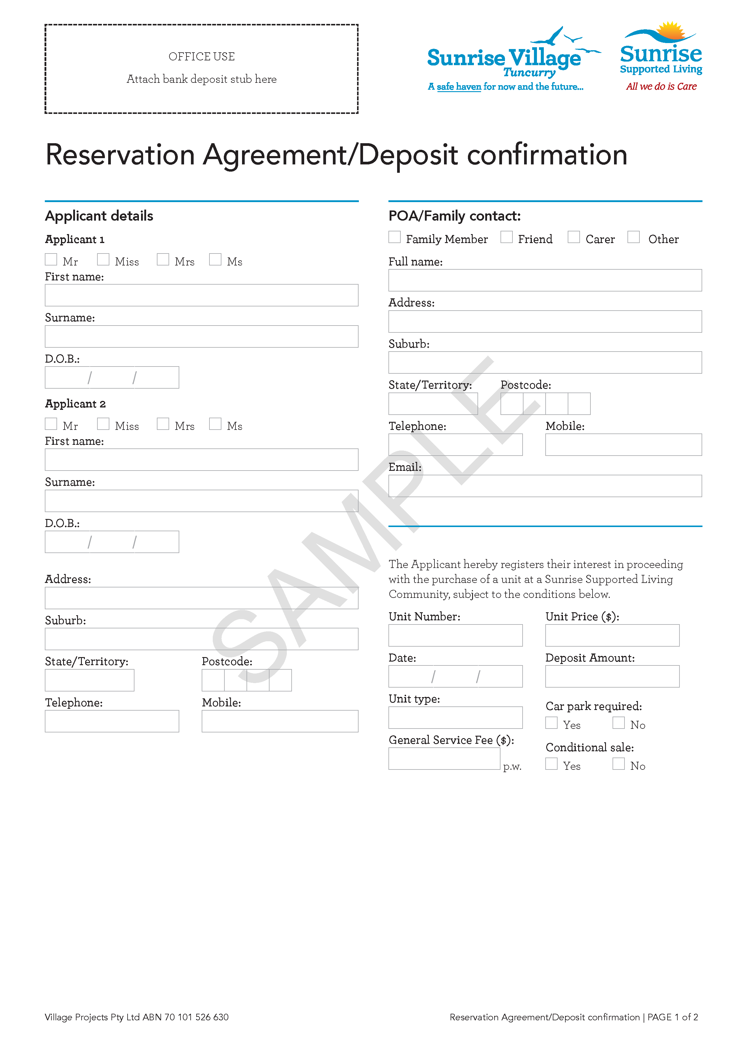 Example of administrative fillable PDF digital form design